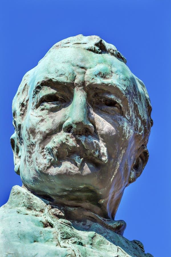 Lavagem da fileira do general Phil Sheridan Statue Sheridan Circle Embassy fotografia de stock royalty free