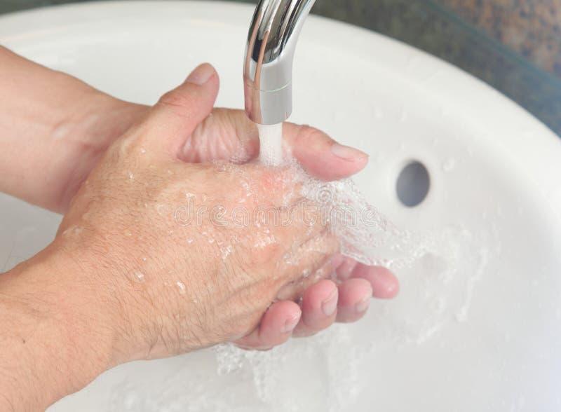 Lavagem da mão imagem de stock