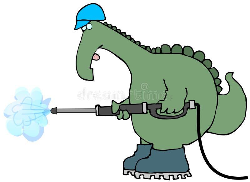 Lavagem da pressão do dinossauro ilustração do vetor