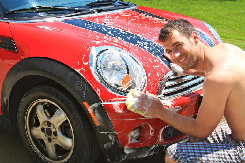 Lavagem De Carro Foto de Stock Royalty Free