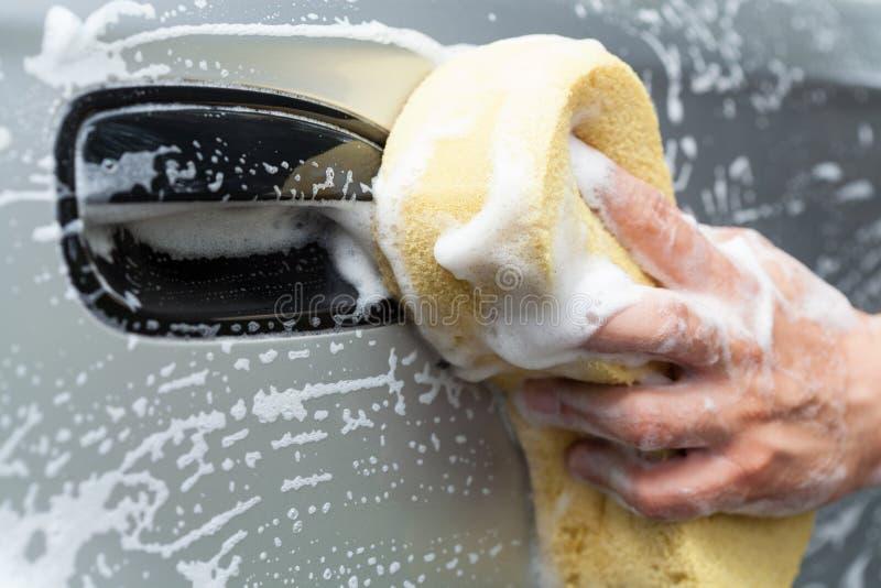 Lavagem de carros manual imagens de stock royalty free