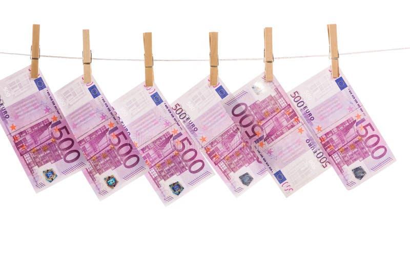 Lavagem de dinheiro do Euro imagens de stock royalty free