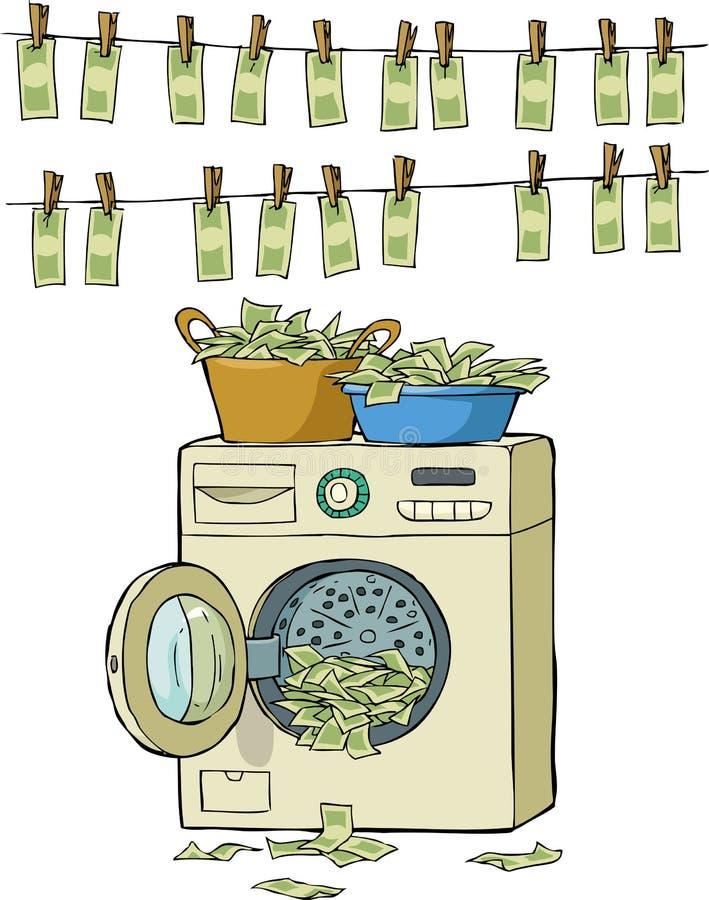 Lavagem de dinheiro ilustração stock