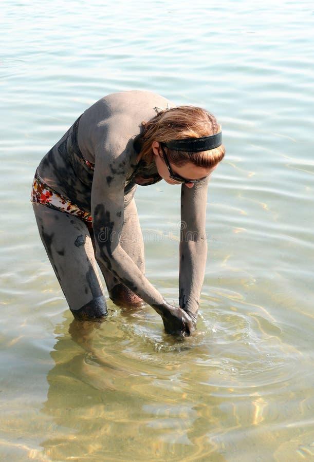 Lavagem fora da lama do mar inoperante foto de stock royalty free