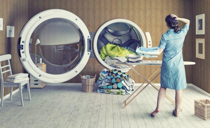 A lavagem grande ilustração do vetor