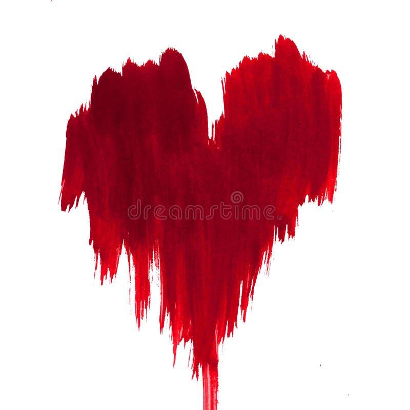 A lavagem molhada abstrata de dia de Valentim do amor do coração do teste padrão do fundo da aquarela borrou o wallpape bonito da ilustração do vetor