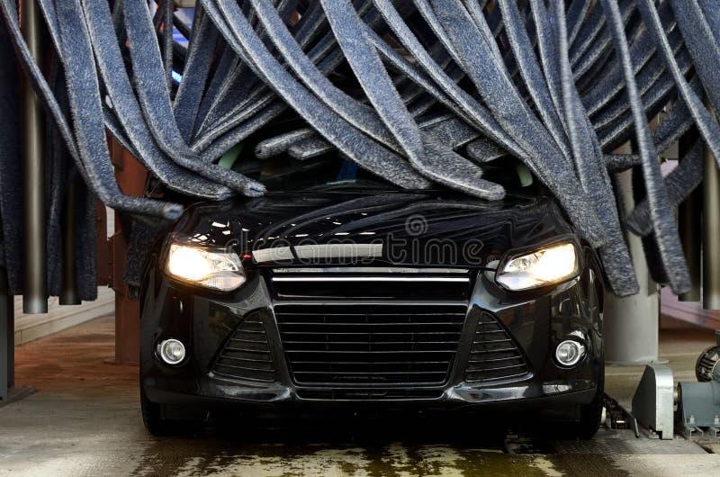 Lavaggio di pulizia dell'autolavaggio del veicolo fotografie stock libere da diritti