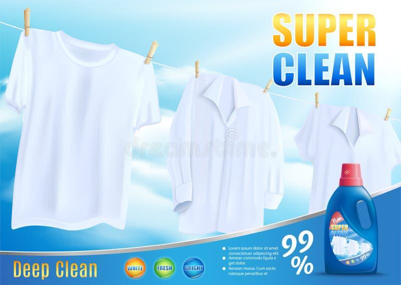 Lavaggio pulito eccellente con il nuovo vettore detergente royalty illustrazione gratis