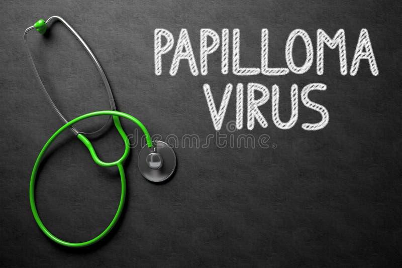 Lavagna con il concetto del virus del papilloma illustrazione 3D fotografie stock