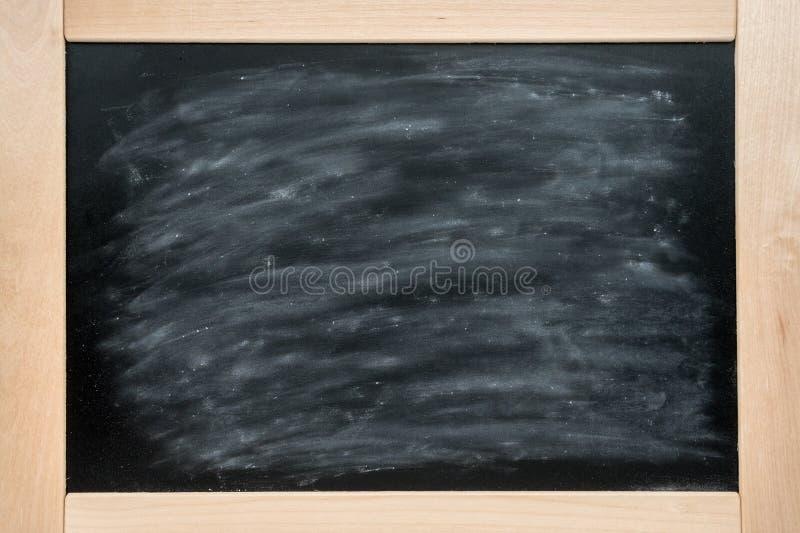 Lavagna Consiglio scolastico del fondo nel telaio di legno coperto di gesso immagini stock