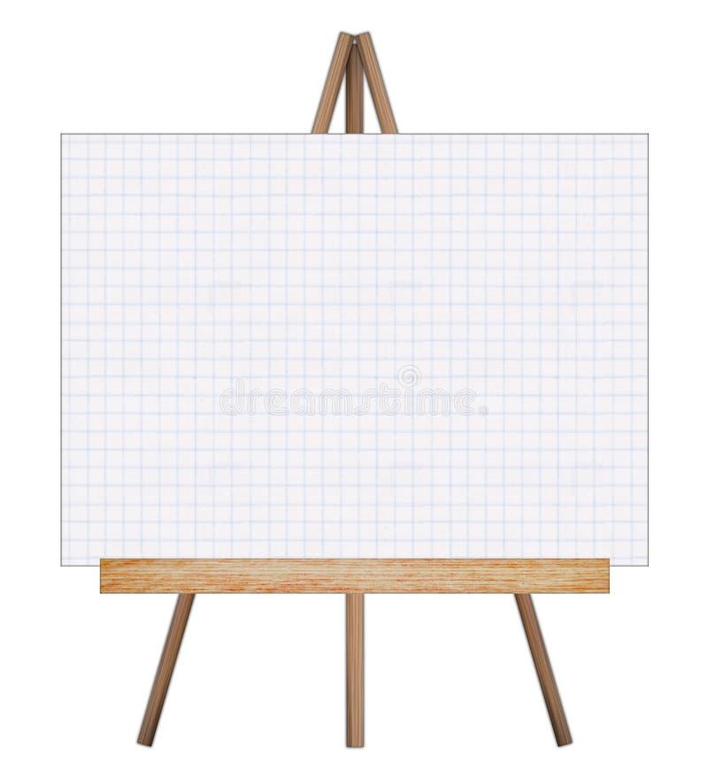 Lavagna del disegno del cavalletto di presentazione royalty illustrazione gratis
