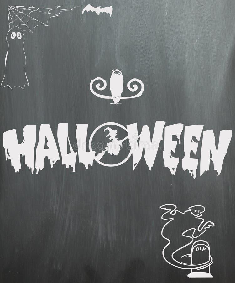Lavagna di Halloween immagini stock