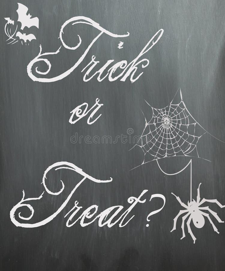 Lavagna di Halloween - scherzetto o dolcetto? royalty illustrazione gratis