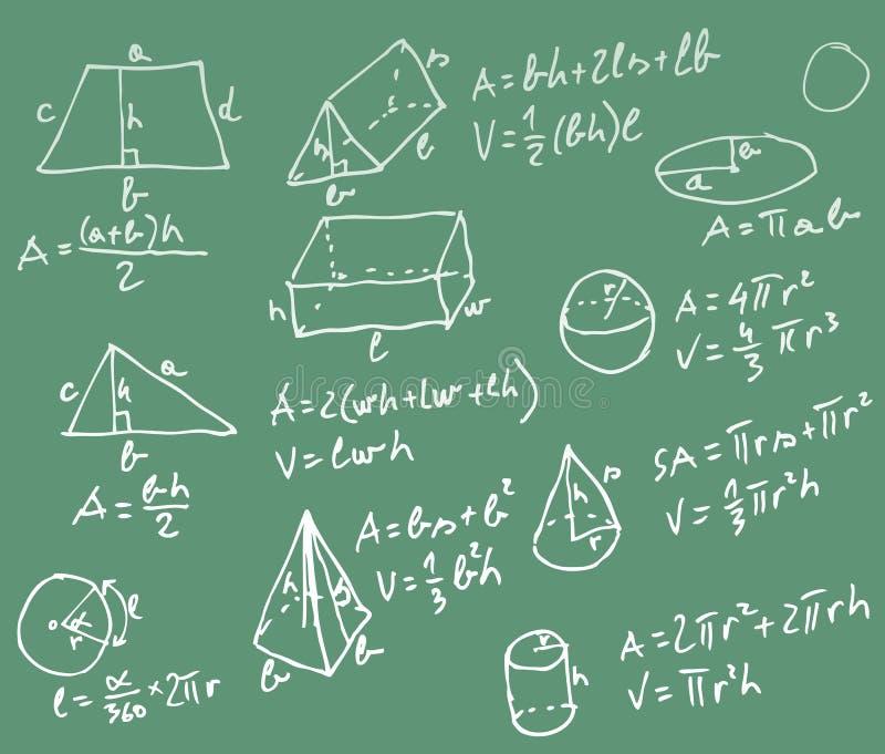 Lavagna di per la matematica illustrazione di stock