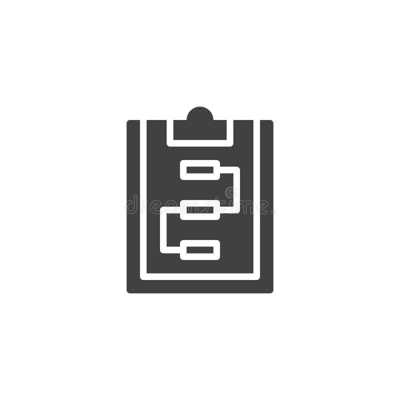 Lavagna per appunti con l'icona di vettore di schema illustrazione di stock