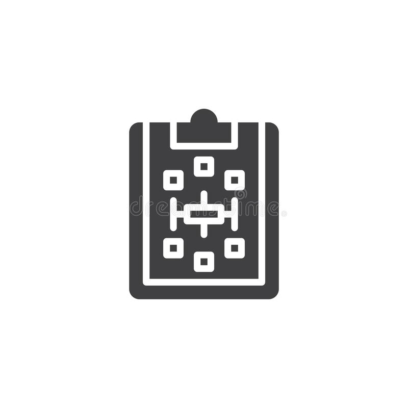 Lavagna per appunti di carta con l'icona di vettore di schema illustrazione vettoriale
