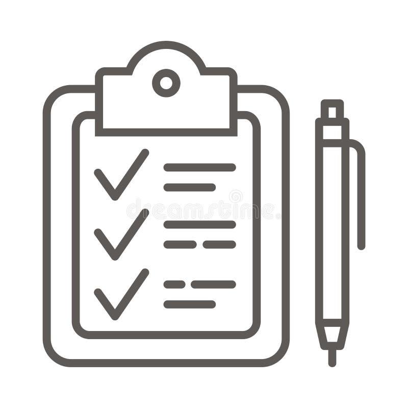Lavagna per appunti e segni di spunta illustrazione vettoriale