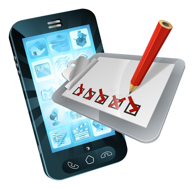 Lavagna per appunti online di indagine del telefono cellulare illustrazione vettoriale