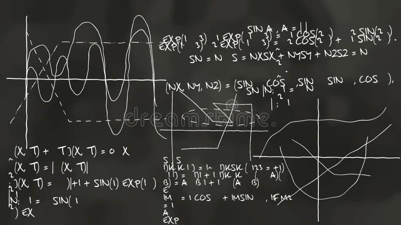 Lavagna sinusoidale di teoria di fisica illustrazione vettoriale