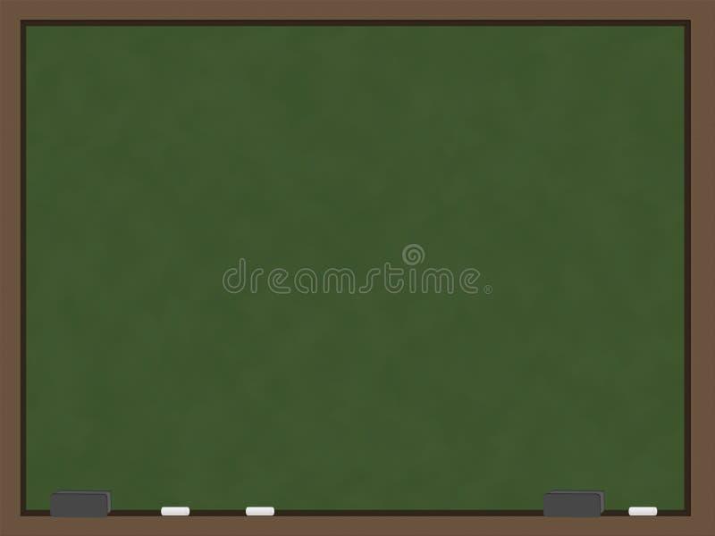 Lavagna verde in bianco illustrazione di stock