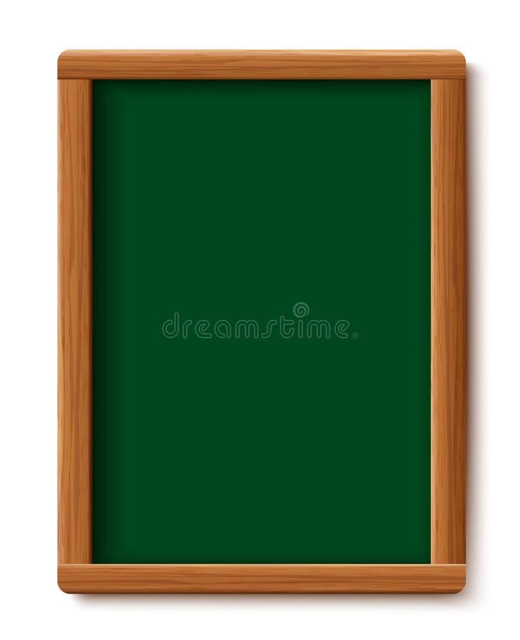 Lavagna verde del menu Struttura di legno del bordo isolata su fondo bianco Progettazione dell'illustrazione di vettore illustrazione vettoriale