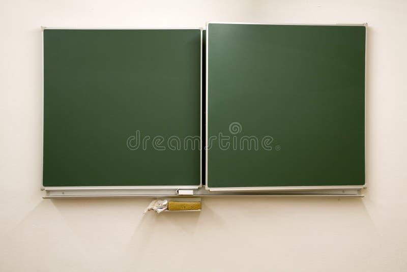 Lavagne in bianco e verdi immagine stock libera da diritti