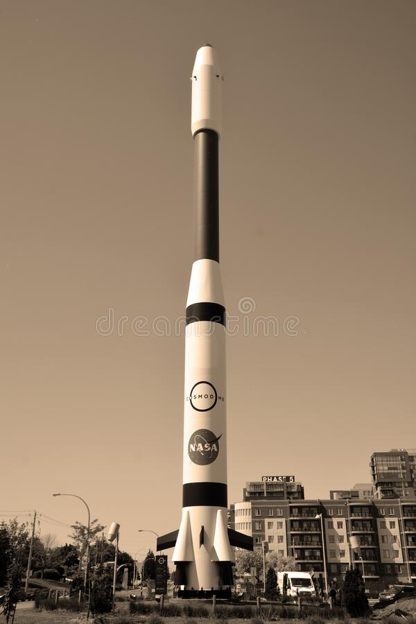 Replica of the Ariane 4 stock images