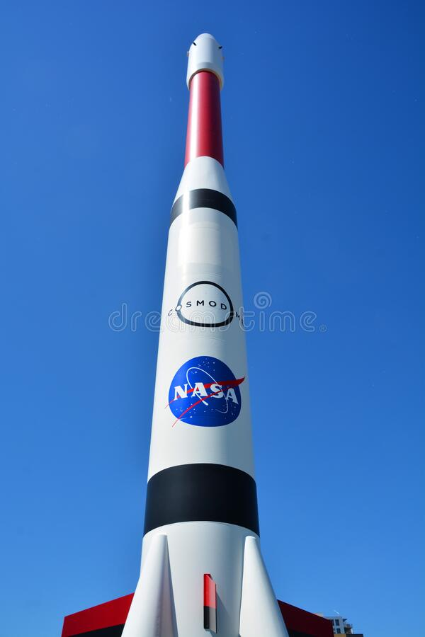 Replica of the Ariane 4 royalty free stock photo