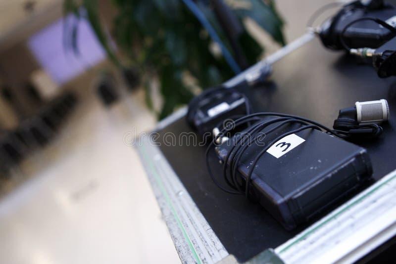 lavalier无线的话筒 图库摄影