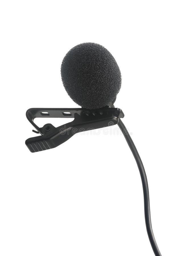 Lavalier Kondensator-Aufnahmemikrofon stockbilder