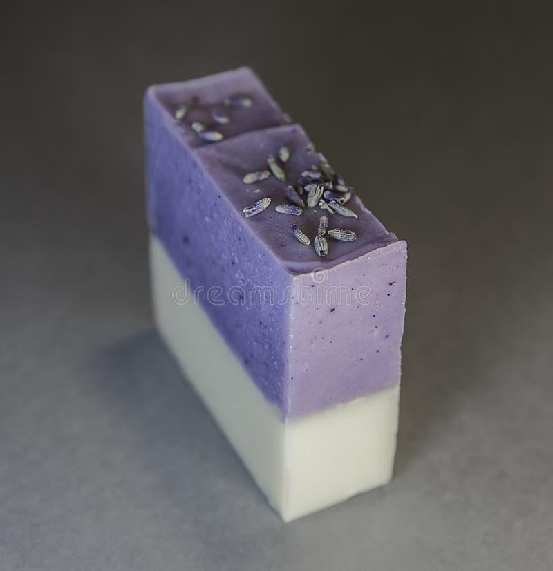 Lavande et Jasmine Hand ou savon de bain fabriqué à la main images stock