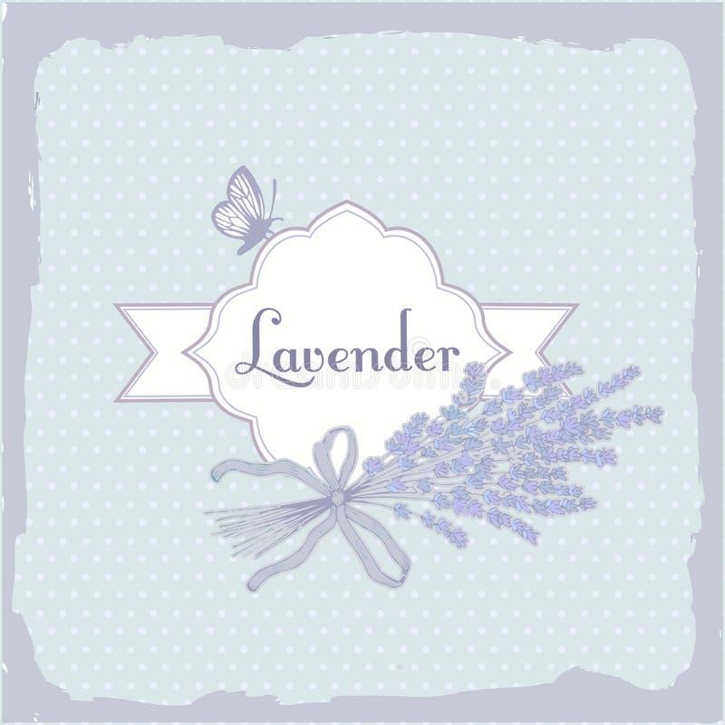Lavande, herbe, fleur, fond de empaquetage illustration stock