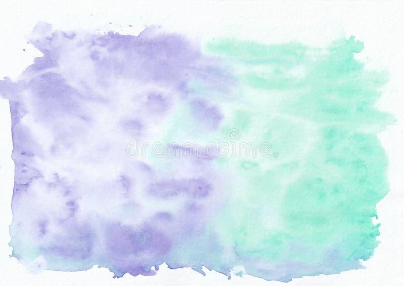 Lavander индиго и предпосылка горизонтального градиента акварели teal персидская зеленая смешанная бесплатная иллюстрация