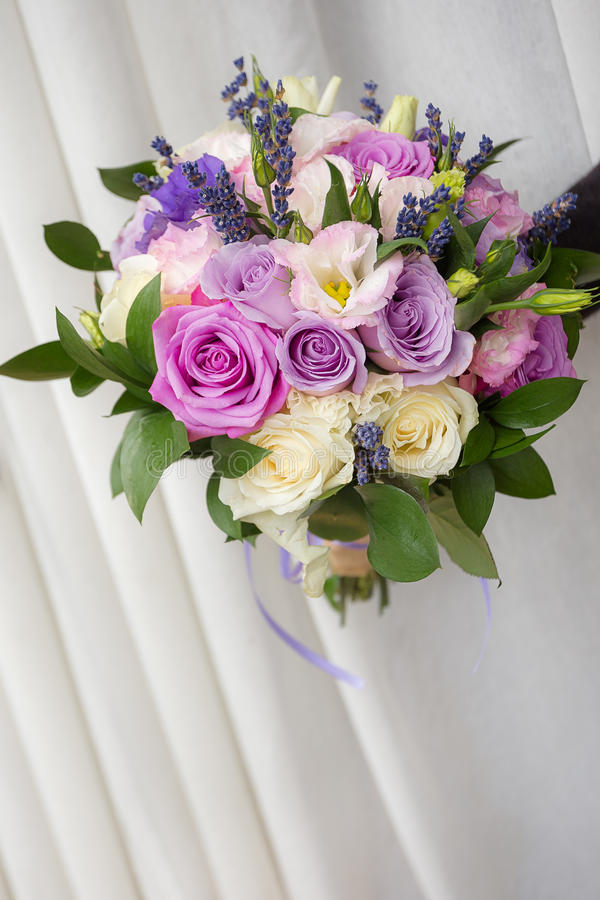 Lavander and roses royalty free stock images