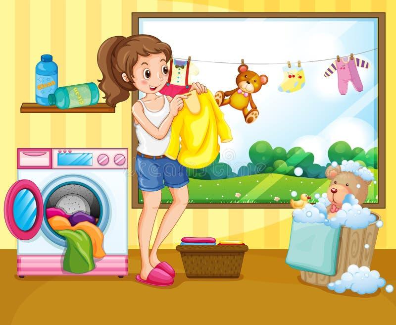 lavanderia illustrazione vettoriale