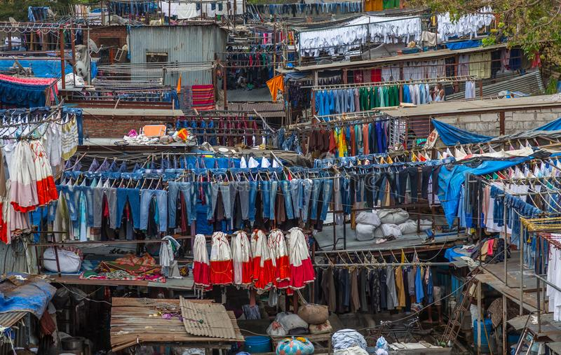 Lavanderia de Dhobi Ghat Mumbai fotografia de stock royalty free