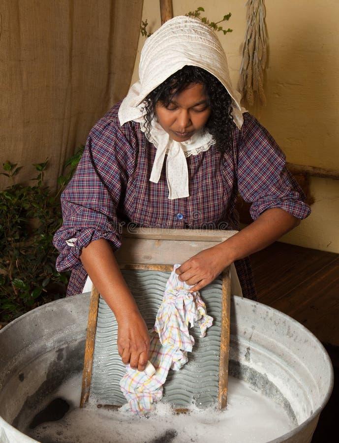 Lavanderia del Victorian immagine stock