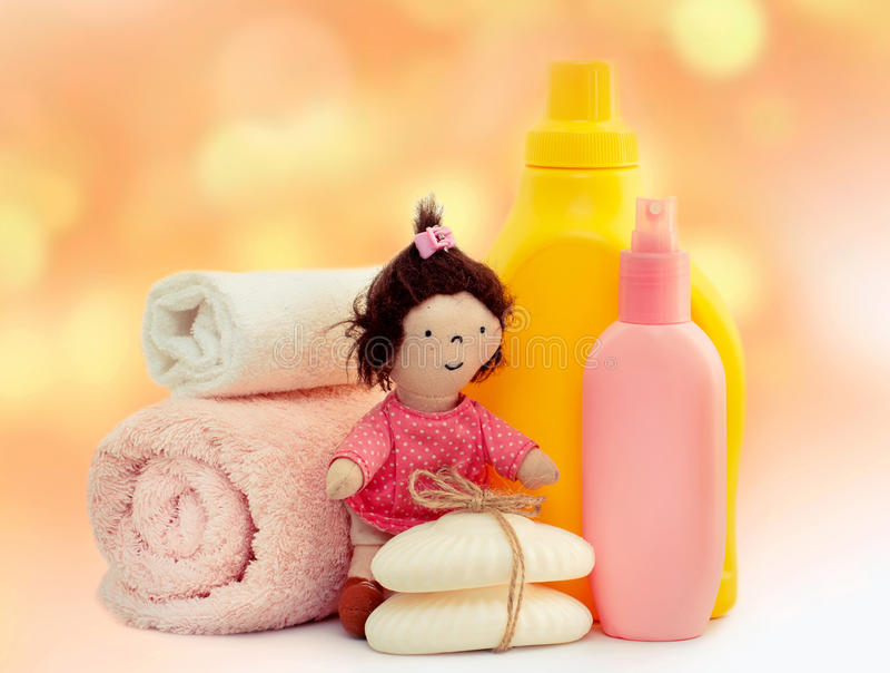 Lavanderia do banho das crianças fotografia de stock