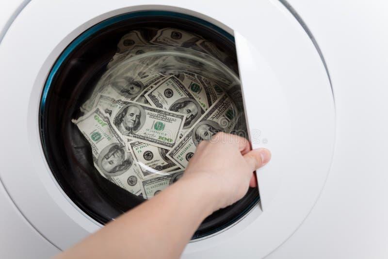 Lavanderia do dinheiro imagens de stock royalty free