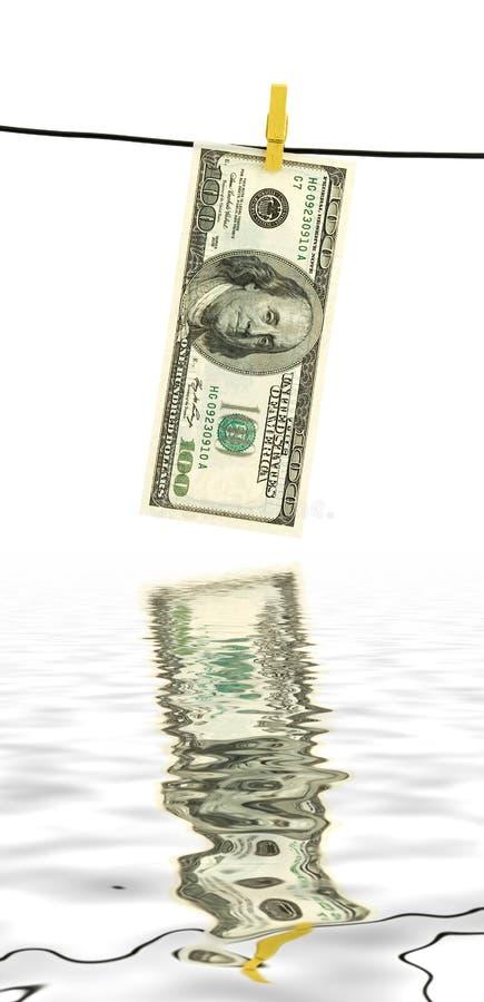 Lavanderia do dinheiro foto de stock