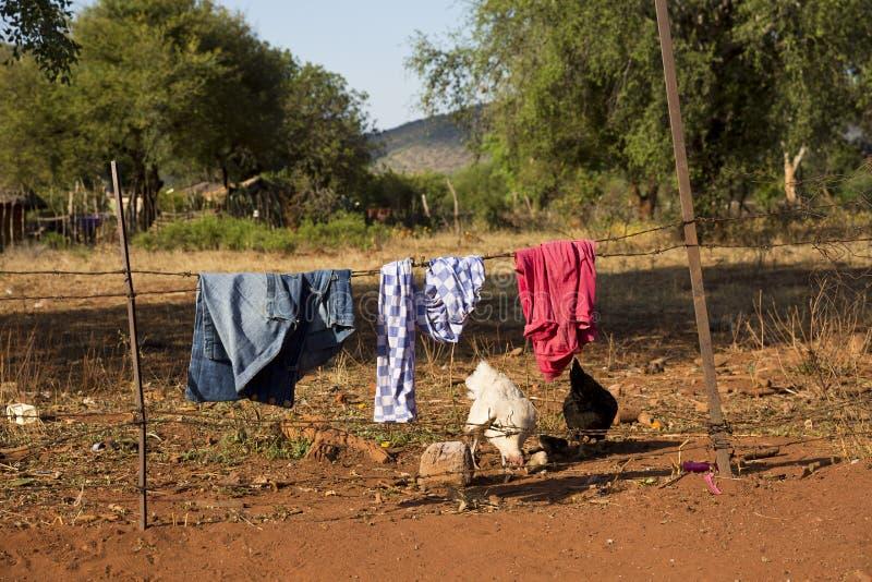 Lavanderia em África do Sul fotografia de stock