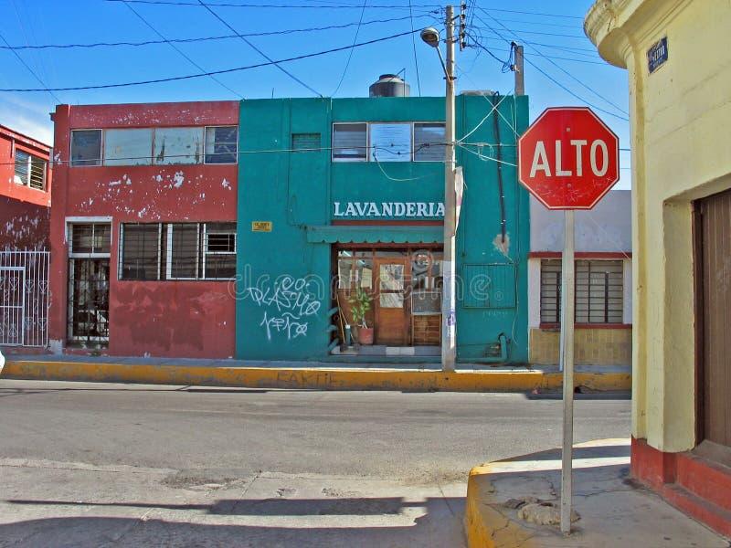 Lavanderia in Mazatlan, Messico fotografia stock libera da diritti