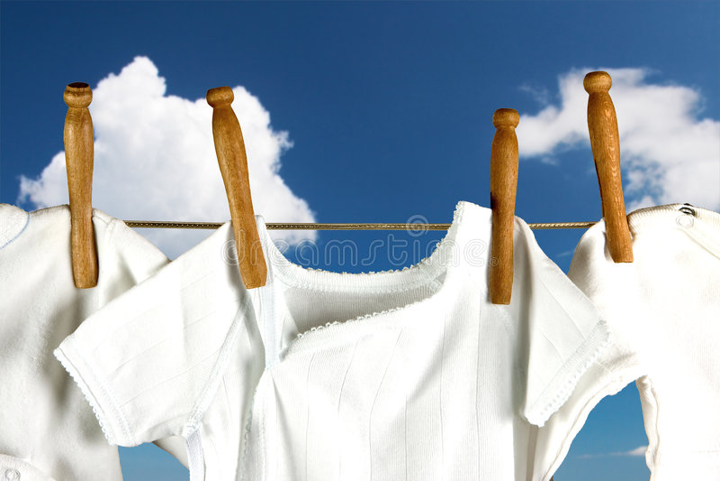 Lavanderia nelle nubi fotografie stock libere da diritti