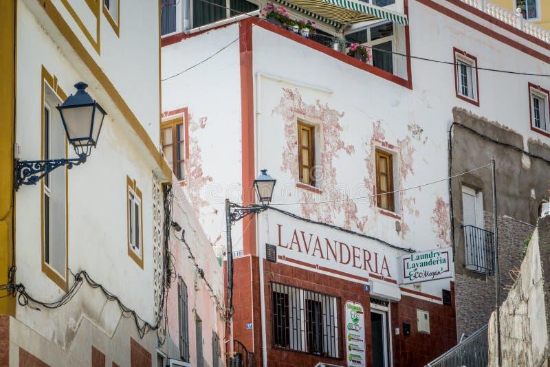 Lavanderia - Wäschereishop stockfoto