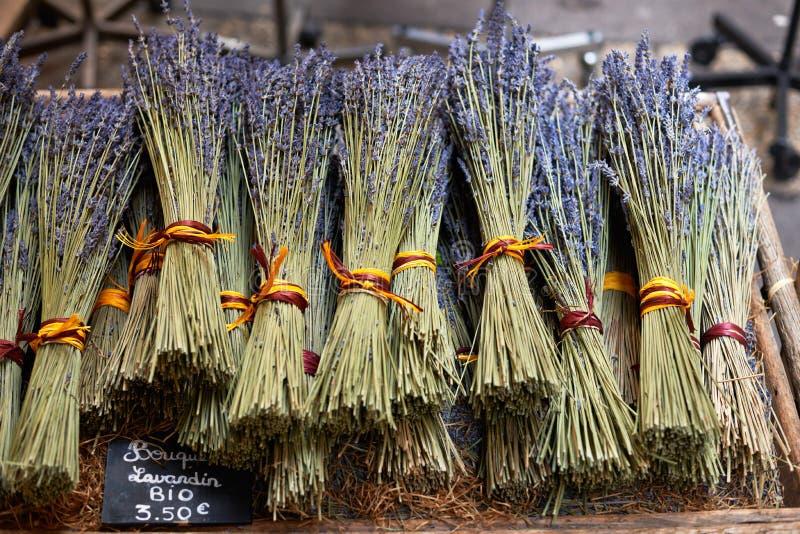 Lavandin DE de Provence stock afbeeldingen