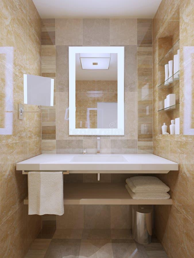 Lavandino in bagno contemporaneo illustrazione di stock for Specchio bagno 3d