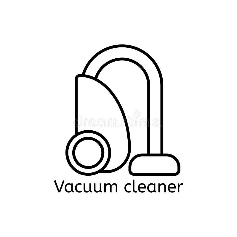 Lavar, passando, limpa a linha ícones da lavanderia A máquina de lavar, ferro, handwash e o outro ícone clining Ordem no sinal li ilustração do vetor