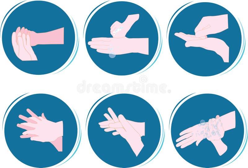 Lavare delle mani illustrazione vettoriale