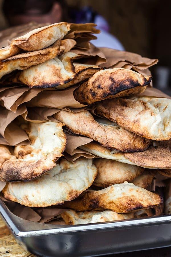 Lavash, Bakery Products fresh pastry sells pita market wheat tortillas close-up Caucasian kitchen Lavash Pita or Arabic bread trad stock photography