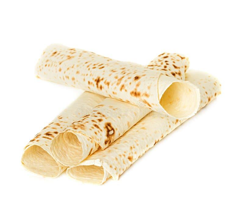 Lavash, pão do envoltório da tortilha imagens de stock